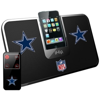 iHip Official NFL Dallas Cowboys Portable iDock Wireless Remote Stereo Speaker