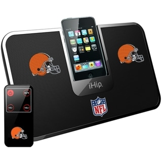 iHip Official NFL Cleveland Browns Portable iDock Wireless Remote Stereo Speaker