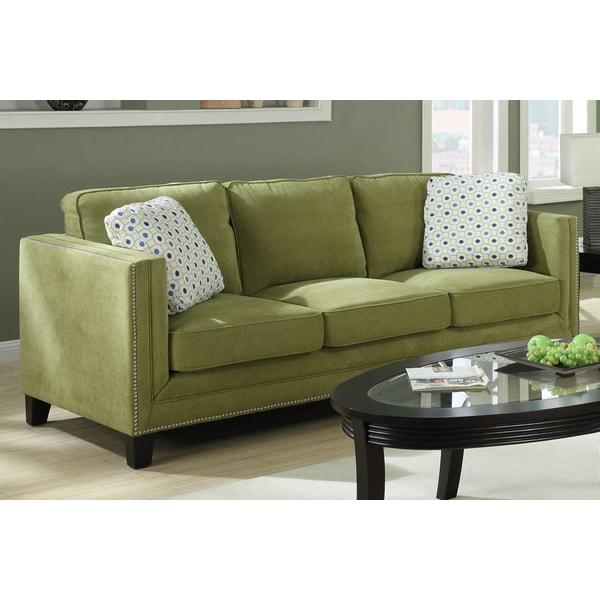 Emerald Carlton Green Apple Sofa