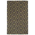 Hand-tufted Cosmopolitan Gold/ Charcoal Wool Rug (8' x 11')