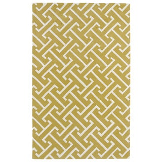 Hand-tufted Cosmopolitan Yellow/ Ivory Wool Rug (9'6 x 13')