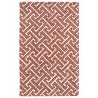 Hand-tufted Cosmopolitan Pink/ Ivory Wool Rug (9'6 x 13')