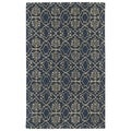 Hand-tufted Runway Denim/ Light Brown Wool Rug (8'x11')