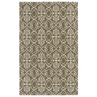 Hand-tufted Runway Light Brown/ Ivory Wool Rug (9'6 x 13')