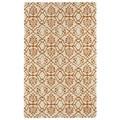 Hand-tufted Runway Orange/ Ivory Wool Rug (9'6x13')
