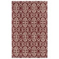 Hand-tufted Runway Berry/ Ivory Wool Rug (8' x 11')