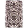 Hand-tufted Runway Purple/ Ivory Suzani Wool Rug (8'x11')