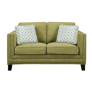 Emerald Carlton Green Apple Loveseat