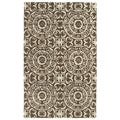 Hand-tufted Runway Brown/ Ivory Suzani Wool Rug (3' x 5')