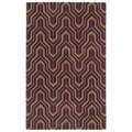 Hand-tufted Cosmopolitan Plum/ Camel Wool Rug (5' x 7'9)