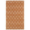 Hand-tufted Cosmopolitan Circles Orange/ Ivory Wool Rug (3' x 5')