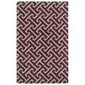 Hand-tufted Cosmopolitan Plum/ Beige Wool Rug (3' x 5')
