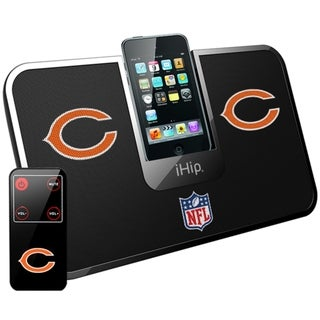 iHip Official NFL Chicago Bears Portable iDock Wireless Remote Stereo Speaker