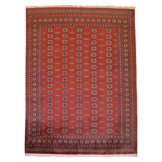 Bokhara Hand-Knotted Area Apple Red/ Cream Rug (8'1 x 10'1)