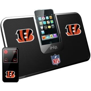 iHip Official NFL Cincinnati Bengals Portable iDock Wireless Remote Stereo Speaker