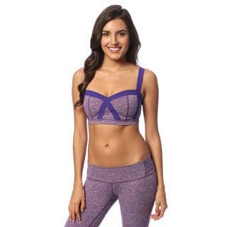 Balini Women's Brittany Purple Yoga Bra