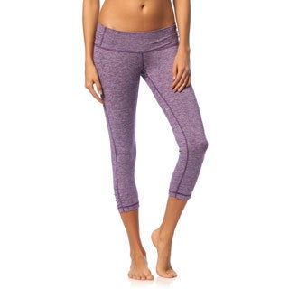 Balini Women's Stardust Purple Yoga Capri Pants