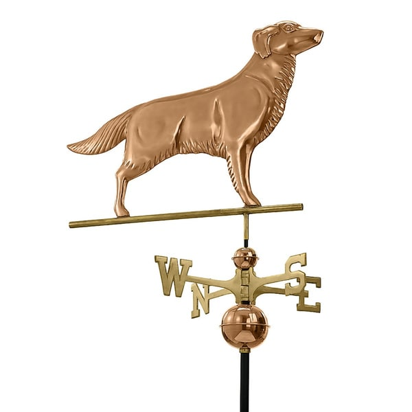 Polished Copper Golden Retriever Weathervane 12586808