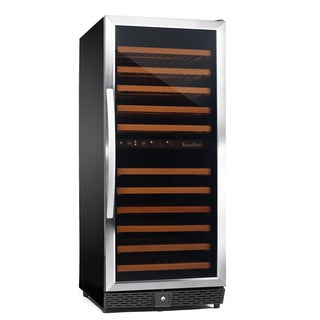 KingsBottle Stainless Steel 120-bottle Dual Zone Compressor Wine Cooler