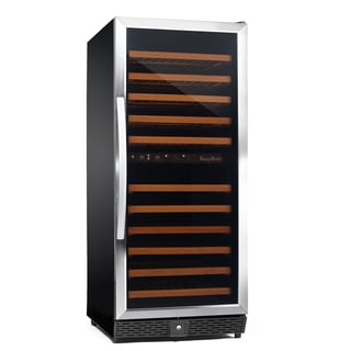 Stainless Steel 120-bottle Dual Zone Compressor Wine Cooler