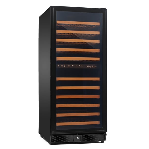 KingsBottle Black 120-bottle Dual Zone Wine Cooler
