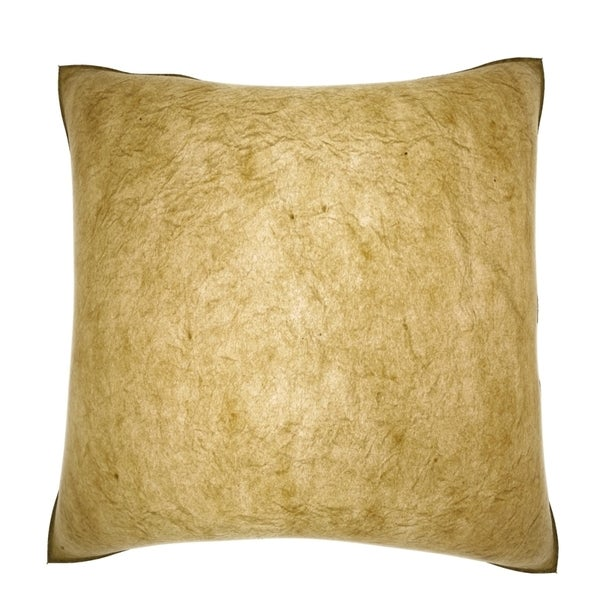 Textured Gold Paper 18-inch Velour Throw Pillow - 16085629 - Overstock.com Shopping - Great ...