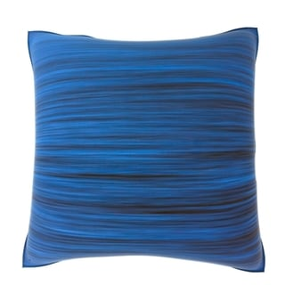 Motion Blur Of Blue 18-inch Velour Throw Pillow