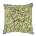 Mottled Green Japanese Paper 18-inch Velour Throw Pillow