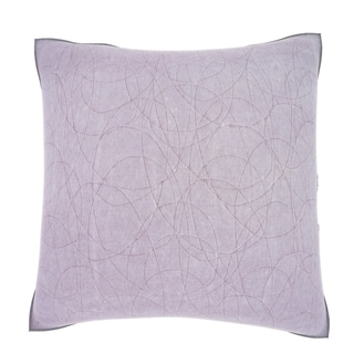 Purple Patterned Japenese Paper 18-inch Velour Throw Pillow