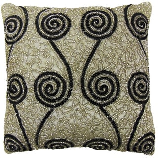 Celebration Swirl Beaded Decorative Pillows (Set of 2)