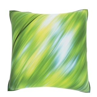 Abstract Green Distorted 18-inch Velour Throw Pillow