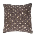 Abstract Flower Pattern 18-inch Velour Throw Pillow