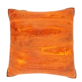 Abstract Orange Texture 18-inch Velour Throw Pillow