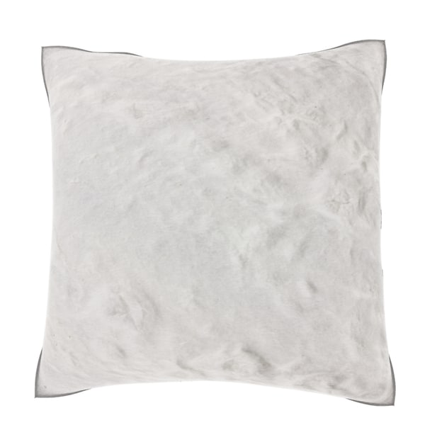 White Textured Wallpaper 18-inch Velour Throw Pillow