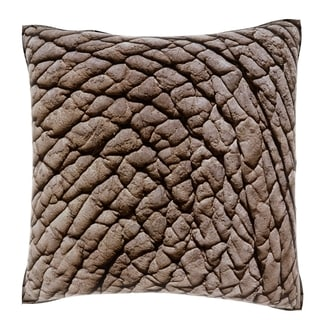 African Elephant Skin 18-inch Velour Throw Pillow