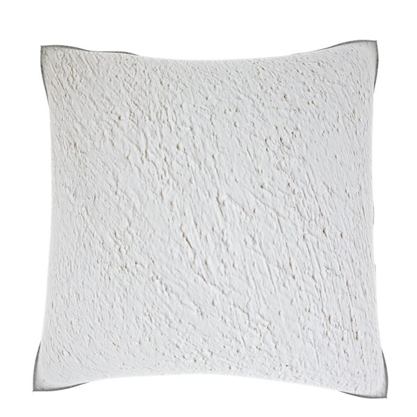 White Wall Plaster 18-inch Velour Throw Pillow