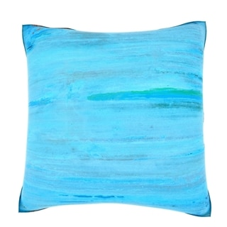 Abstract Blue Texture 18-inch Velour Throw Pillow