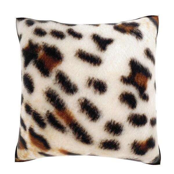 Cheetah Print Fabric 18-inch Velour Throw Pillow