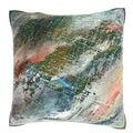 Oil Painting Art 18-inch Velour Throw Pillow