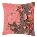 Rusted Sheet Metal 18-inch Velour Throw Pillow