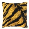 Tiger Back Print 18-inch Velour Throw Pillow