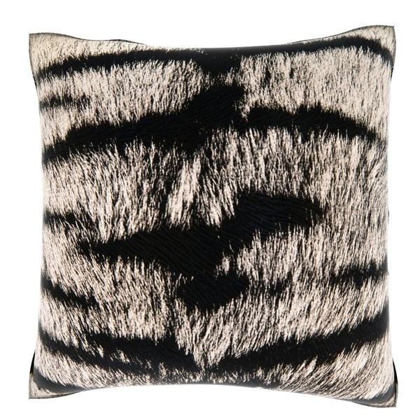 Animal Fur Print 18-inch Velour Throw Pillow