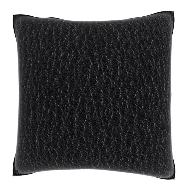 Black Leather Texture 18-inch Velour Throw Pillow