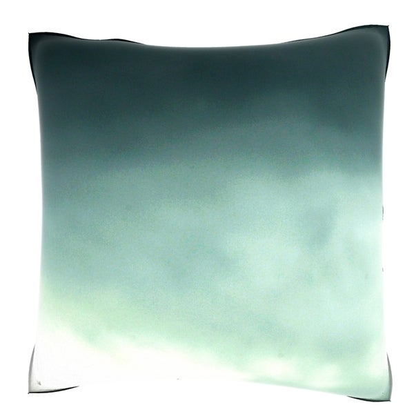 Grey Cloud Coverage Squares 18-inch Velour Throw Pillow
