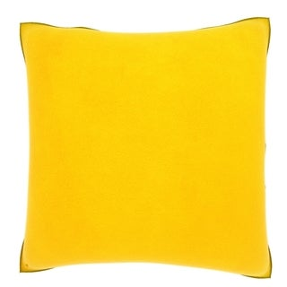 Yellow Leather Texture 18-inch Velour Throw Pillow