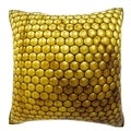 Inside Honey Comb 18-inch Velour Throw Pillow