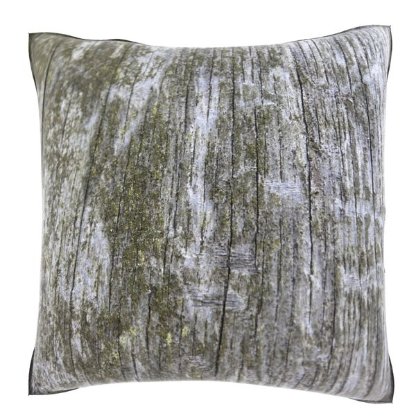 Tree Trunk Moss 18-inch Velour Throw Pillow - 16085713 - Overstock.com Shopping - Great Deals on ...