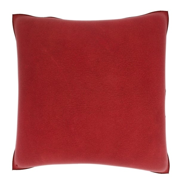 Red Leather Decorative Pillow : Red Leather Texture 18-inch Velour Throw Pillow
