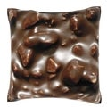 Brown Melting Chocolate 18-inch Velour Throw Pillow