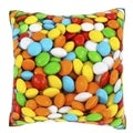 Multi Colored Candy 18-inch Velour Throw Pillow